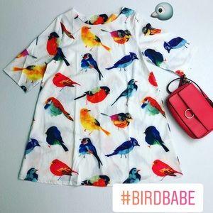 Tropical Bird Shift Dress